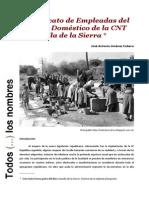 El Sindicato de Empleadas Del Servicio Domestico de La CNT