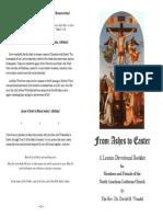 2014 Lenten Devotional Booklet Format