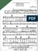 Tico Tico - Per Pianoforte (Facile)