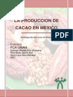 Investigacion Del Cacao en Mexico