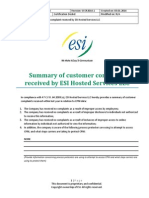 CPNI Filling Documents - 2014 - Customer Complaints