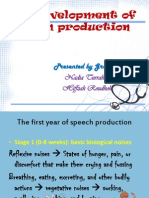 The Development of Speech Production