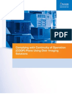 Complying with Continuity of Operation (COOP) Plans Using Disk Imaging Solutions