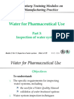 Water for pharmaceutical uses