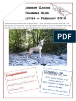 Blenheim Canine Training Club February 2014 Newsletter