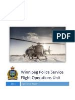 Police helicopter report, winnipeg 2013