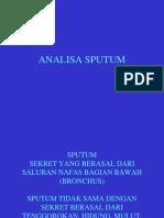 Analisa Sputum