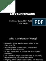 alexander wang presentation
