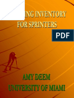 Amy Deem - Training Inventory for Sprinters