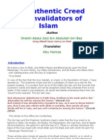 The Authentic Creed and Invalid a Tors of Islam