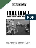 Italian I Reading Booklet