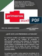 PRIMEROS AUXILIOS UNEFA