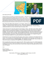 My Support Letter to Nicaragua