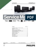 27432 Philips HTS-3375 Reproductor de DVD Con Radio AM-FM-USB Salida Sorround Alta Potencia Manual de Servicio