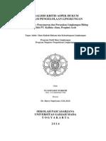 Tugas Akhir [Hukum Dan Kelembagaan Lingkungan] Dr. Harry Supriyono, UGM-Graduate of School