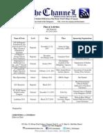 Plan of Activities