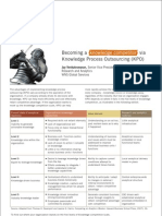 Becoming a knowledge competitor via Knowledge Process Outsourcing (KPO)