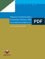 Objetivos Fundamentales y Contenidos Minimos Obligatorios 2009