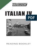 Italian IV Reading