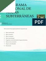 PROGRAMA NACIONAL DE AGUAS SUBTERRÁNEAS