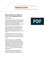 Mexico Must Not Confuse Its Own Crime Fighting Mission
