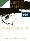 Matthew Calarco, Steven DeCaroli Giorgio Agamben Sovereignty and Life 2007