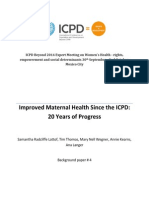 Maternal Health, ICPD