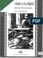 MARDONES, J. M. - Hacia Donde Va La Religion. Postmodernidad y Postsecularizacion - UIA [1996] 2004