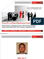 Presentation -  Three R's of Data Warehouse Fault Tolerance