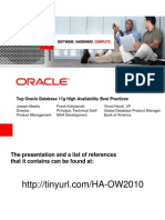 Presentation - Top Oracle Database 11g High Availability Best Practices