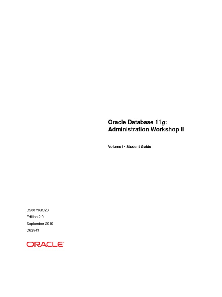 student guide oracle database 11g administration workshop ii rh scribd com exadata database machine administration workshop student guide pdf