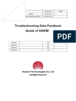 Troubleshooting Data Feedback Guide of DWDM
