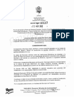 Decreto de Planta 2012