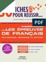 30 Fiches Pour Reussir Les Epreuves de Francais