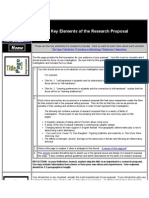 Key Elements of the Research Proposal