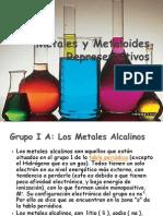Metales y Metaloides Representativos