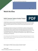 NASA Cameras Capture Another Fireball _ Watch the Skies