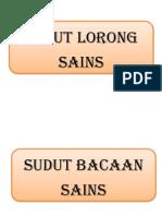 SUDUT-SUDUT SAINS