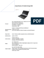 Product Specifications of Z930