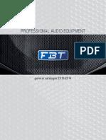 FBT Professional Audio Equipment Catalogue 2013