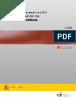 Guia Evaluacion Calidad Servicios Públicos (2009). AEVAL
