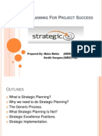 Strategic Planning for Project Success (MALAV)