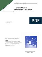 User Manual Aj2885