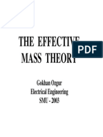 Effective Mass Theory July25-03