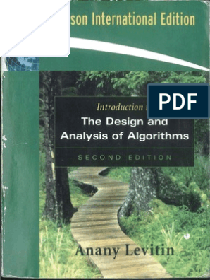 anany levitin design and analysis of algorithms free ebook download