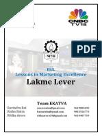 Team Ekatva NITIE Lakme Lever