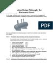 Foundation Design Philosophy for Horizontal Vessel