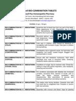 Healwell Bio-Combination Tablets No. 1 to 28
