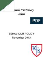 Behaviour Policy 2013