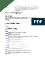 Object Class Methods in Java